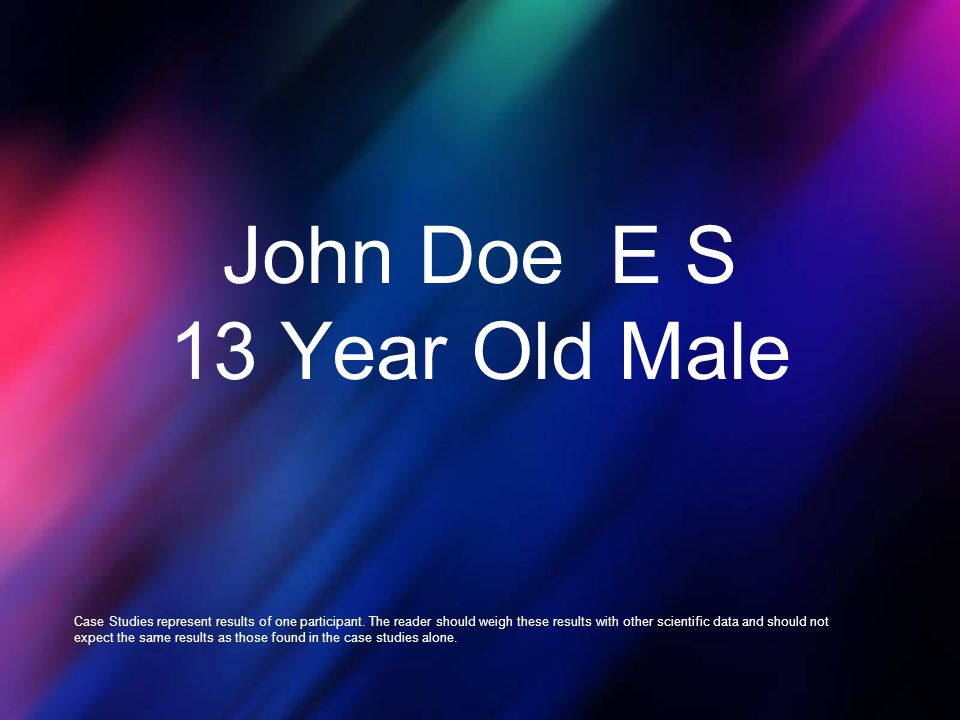 John Doe E S 13 Year Old Male