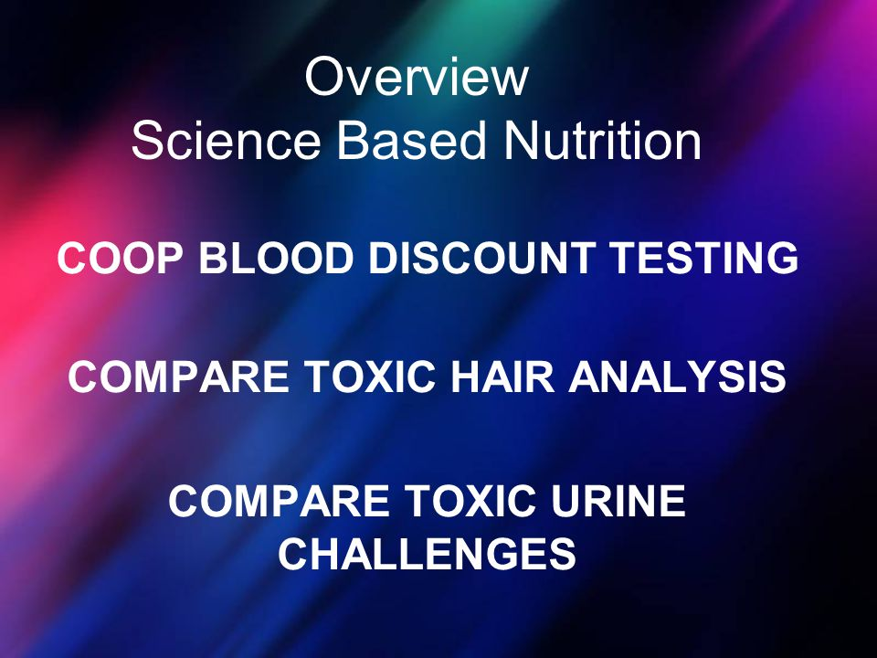 Overview Science Based Nutrition
