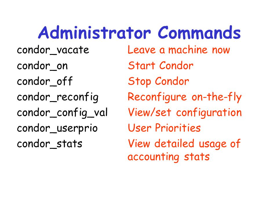 Administrator Commands