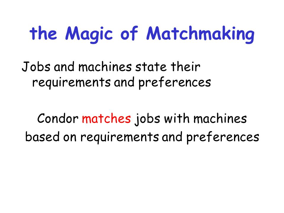 the Magic of Matchmaking