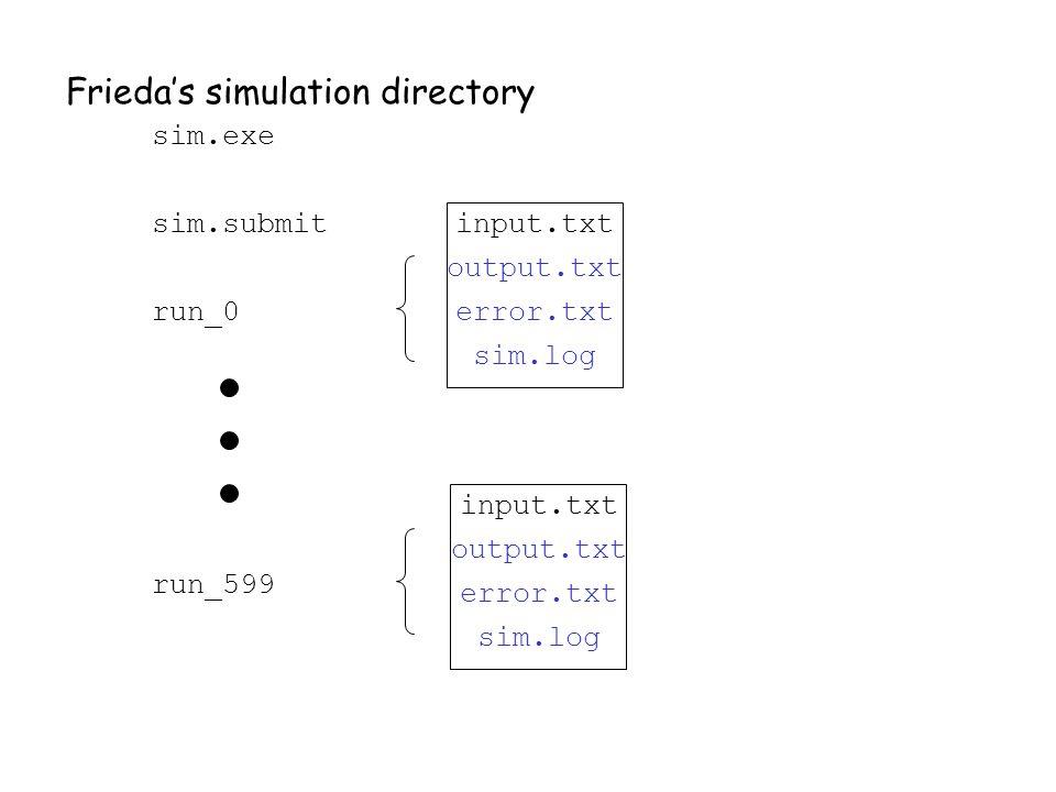Frieda's simulation directory