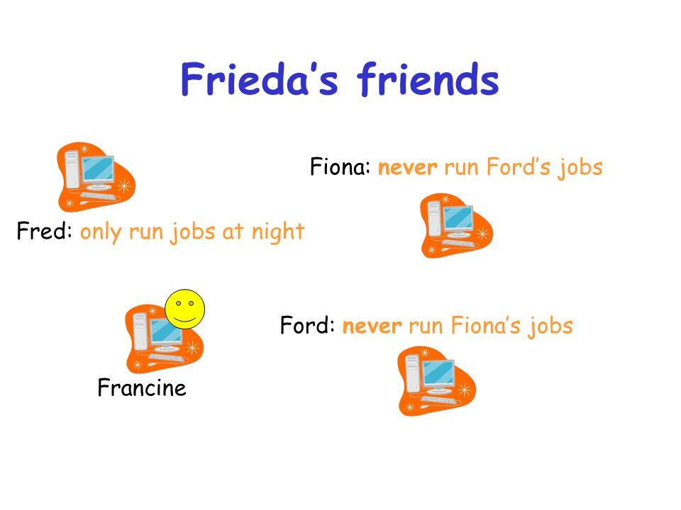Frieda's friends Fiona: never run Ford's jobs