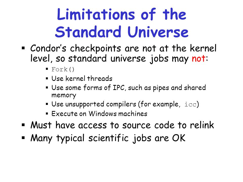 Limitations of the Standard Universe