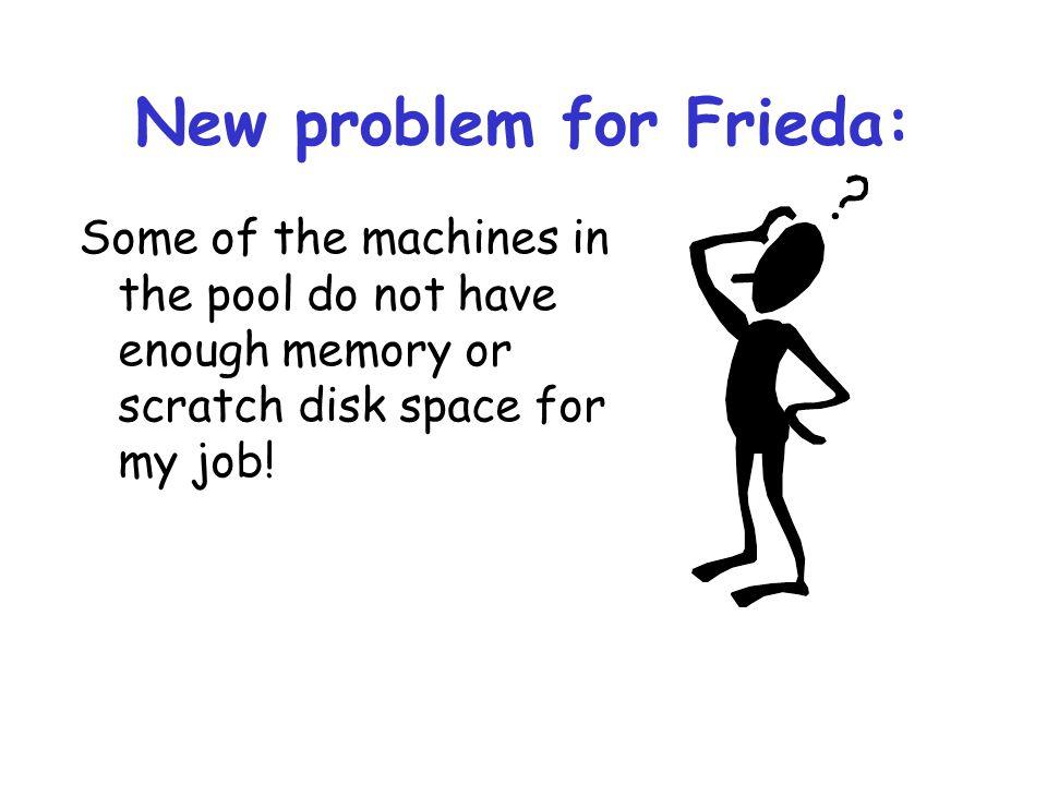 New problem for Frieda: