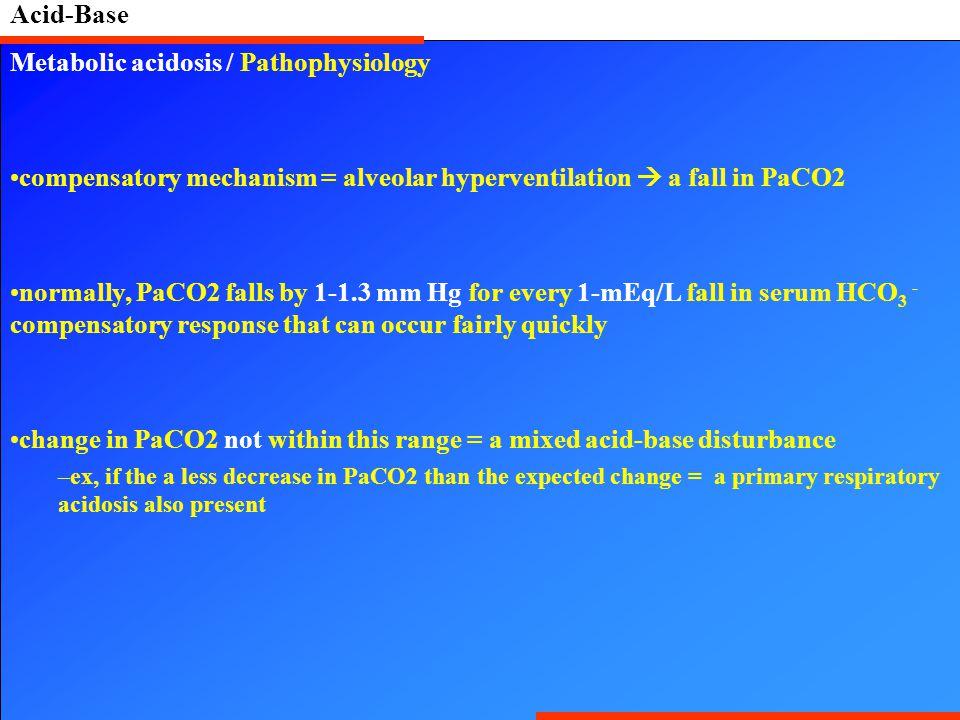 Metabolic acidosis / Pathophysiology
