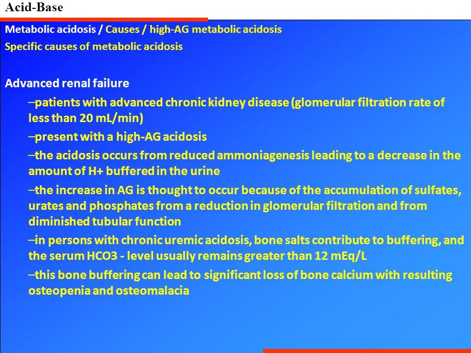 Advanced renal failure