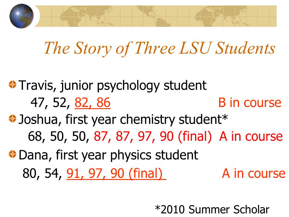 The Story of Three LSU Students