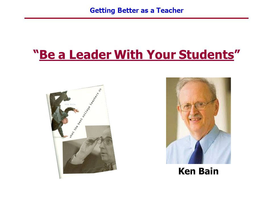 Be a Leader With Your Students