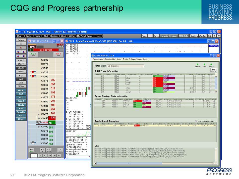CQG and Progress partnership