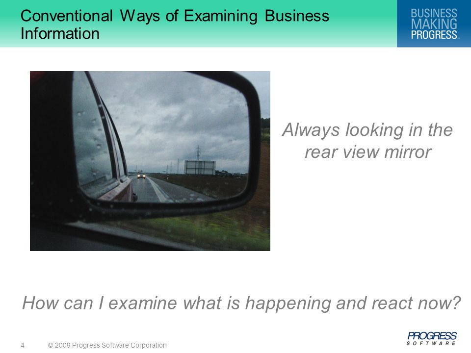 Conventional Ways of Examining Business Information