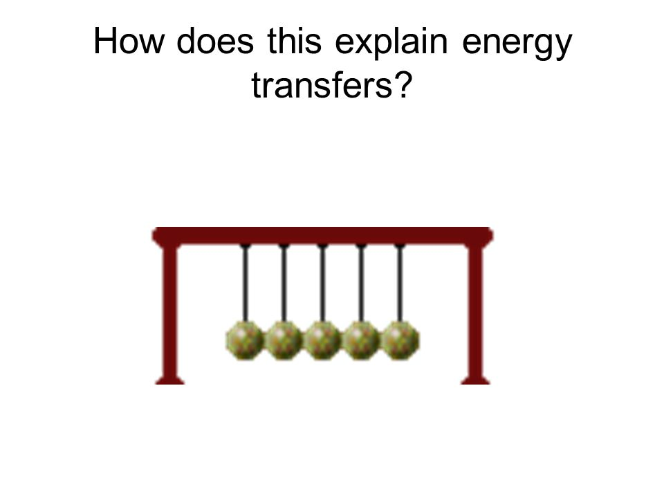 How does this explain energy transfers