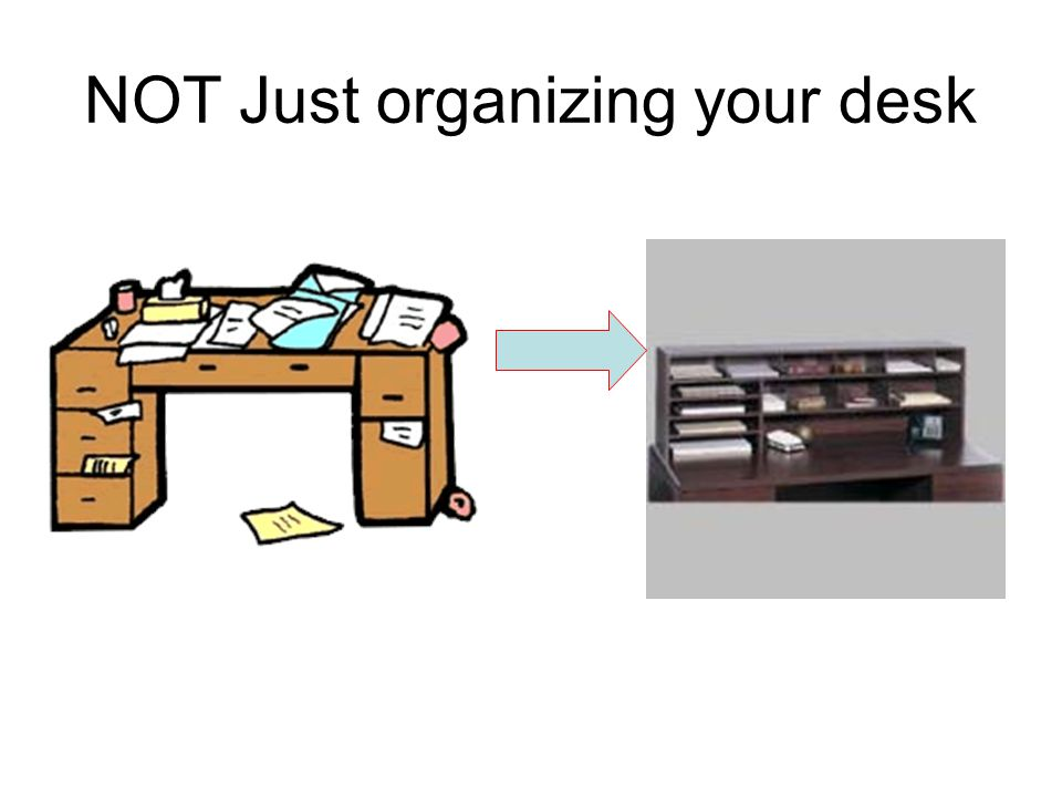NOT Just organizing your desk