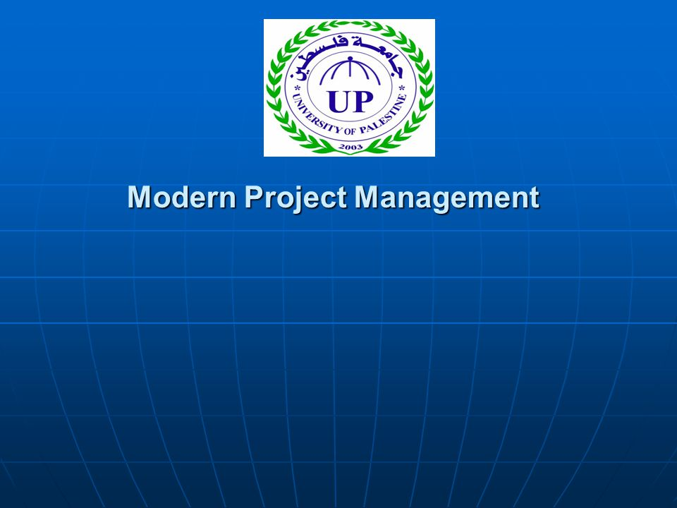 Modern Project Management