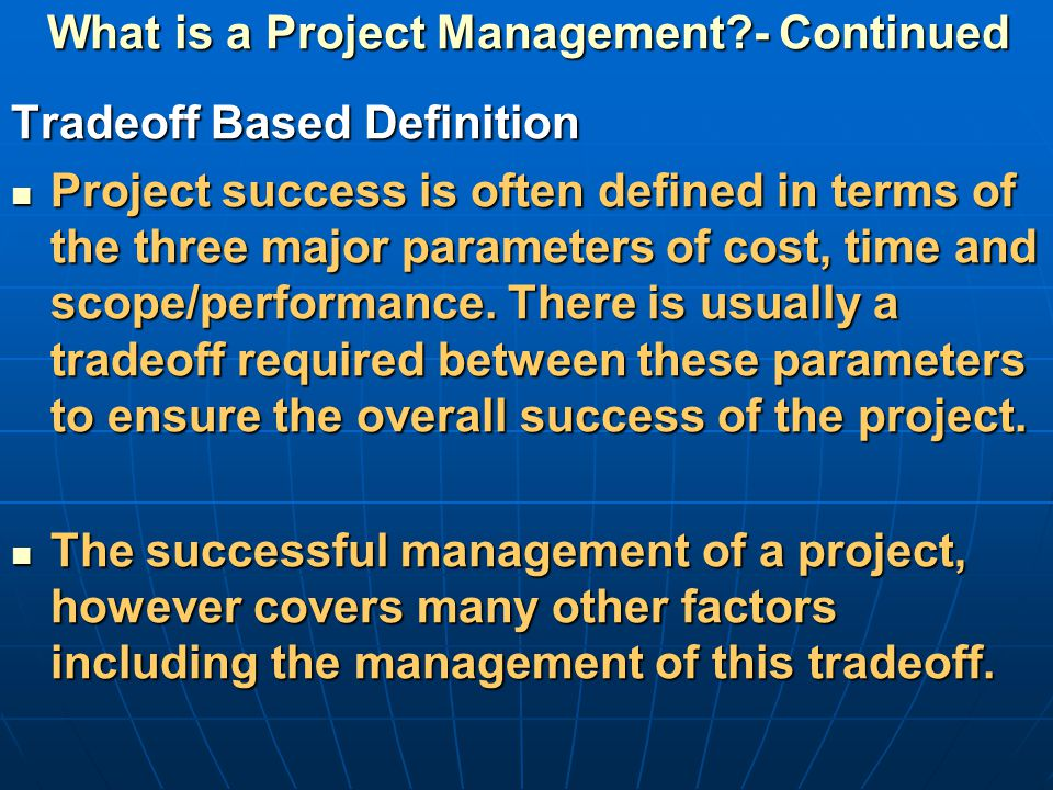 explain the time cost relationship in project management