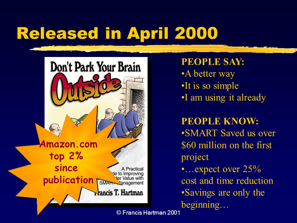 Released in April 2000 PEOPLE SAY: A better way It is so simple