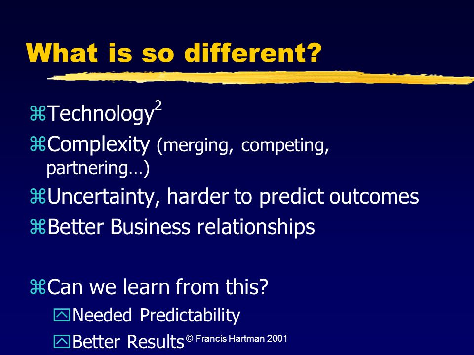 What is so different Technology2