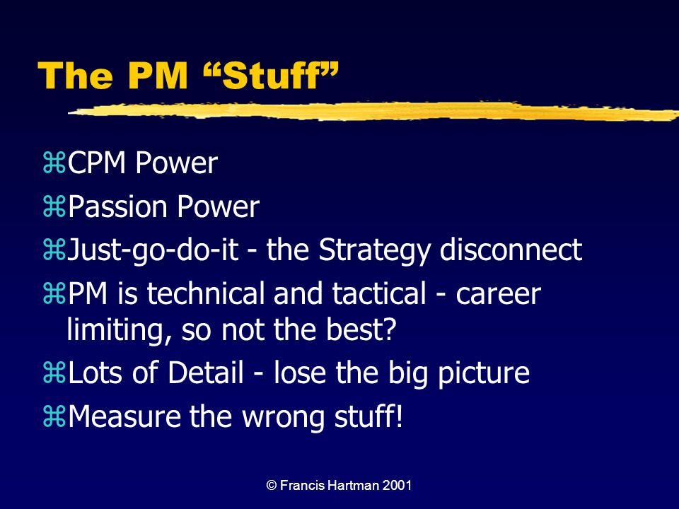 The PM Stuff CPM Power Passion Power