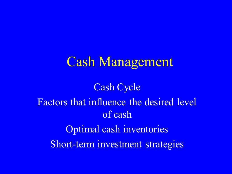 Cash Management Cash Cycle