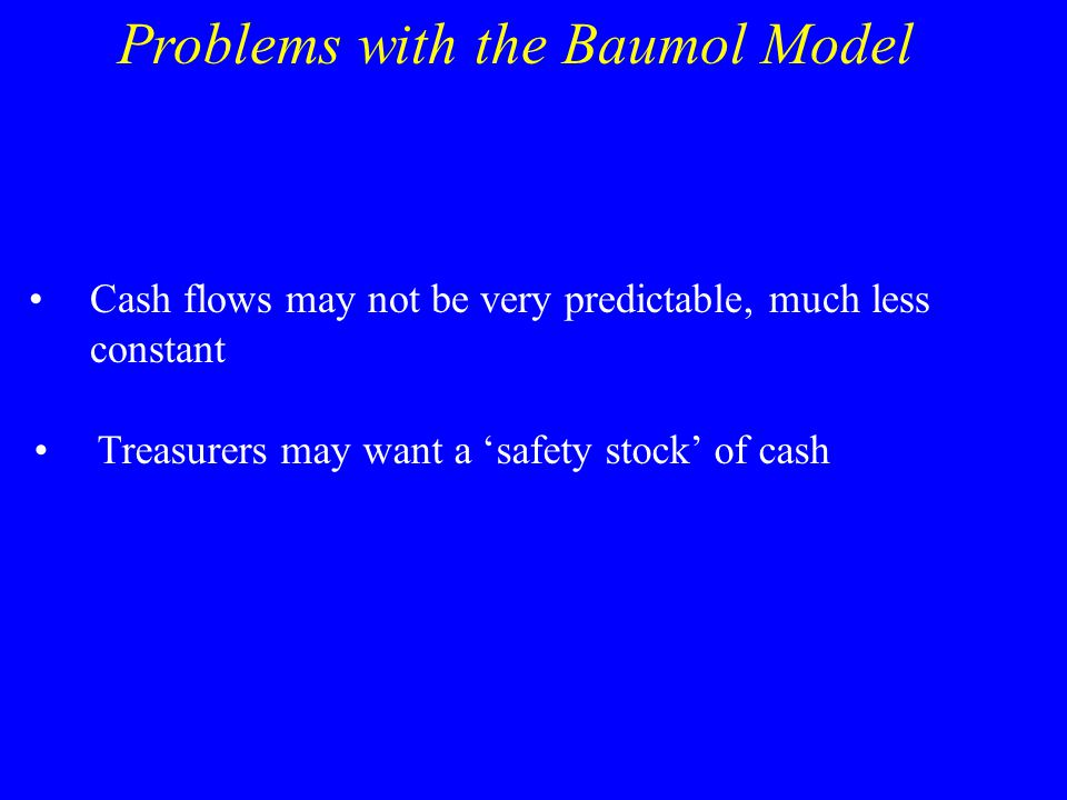 Problems with the Baumol Model