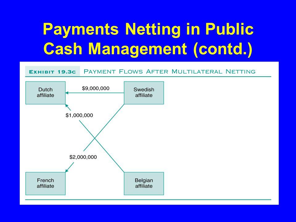 Payments Netting in Public Cash Management (contd.)
