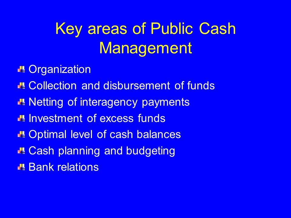 Key areas of Public Cash Management