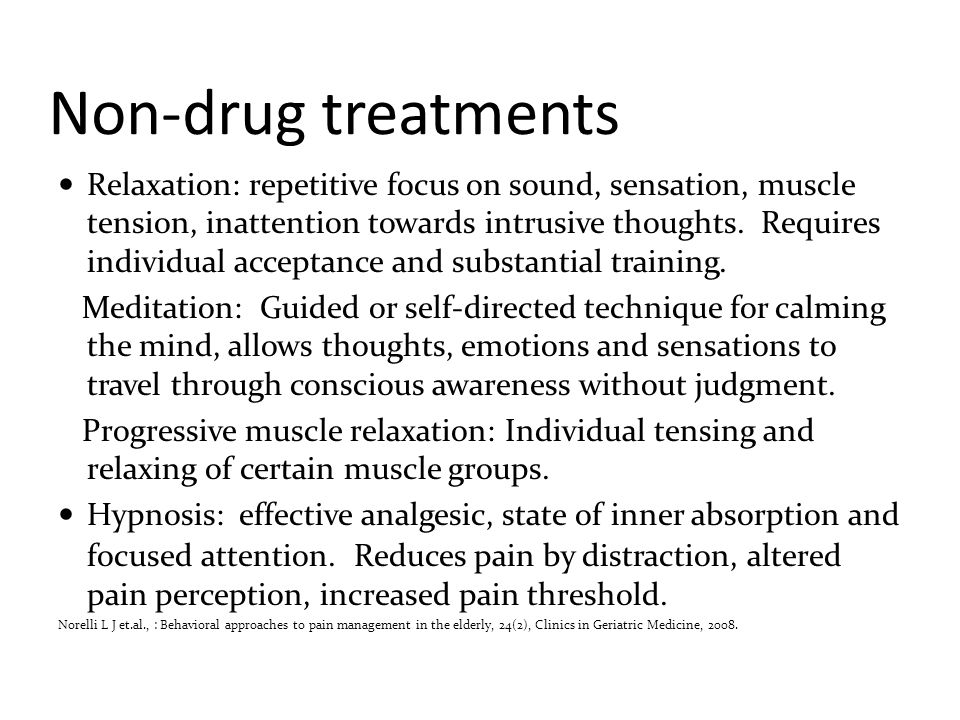 Non-drug treatments