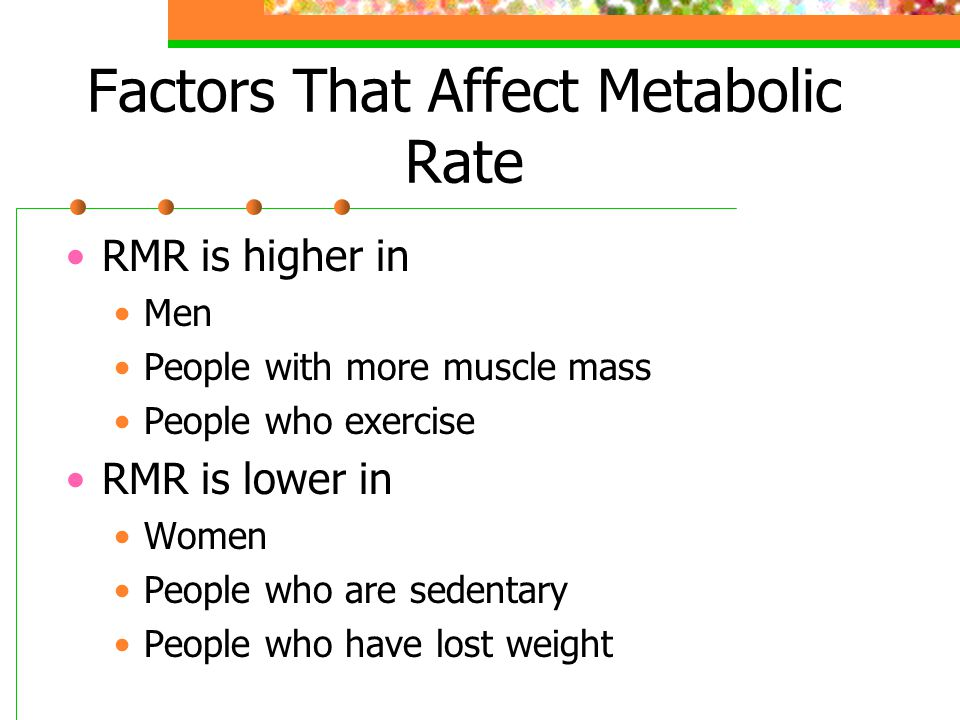 Factors That Affect Metabolic Rate