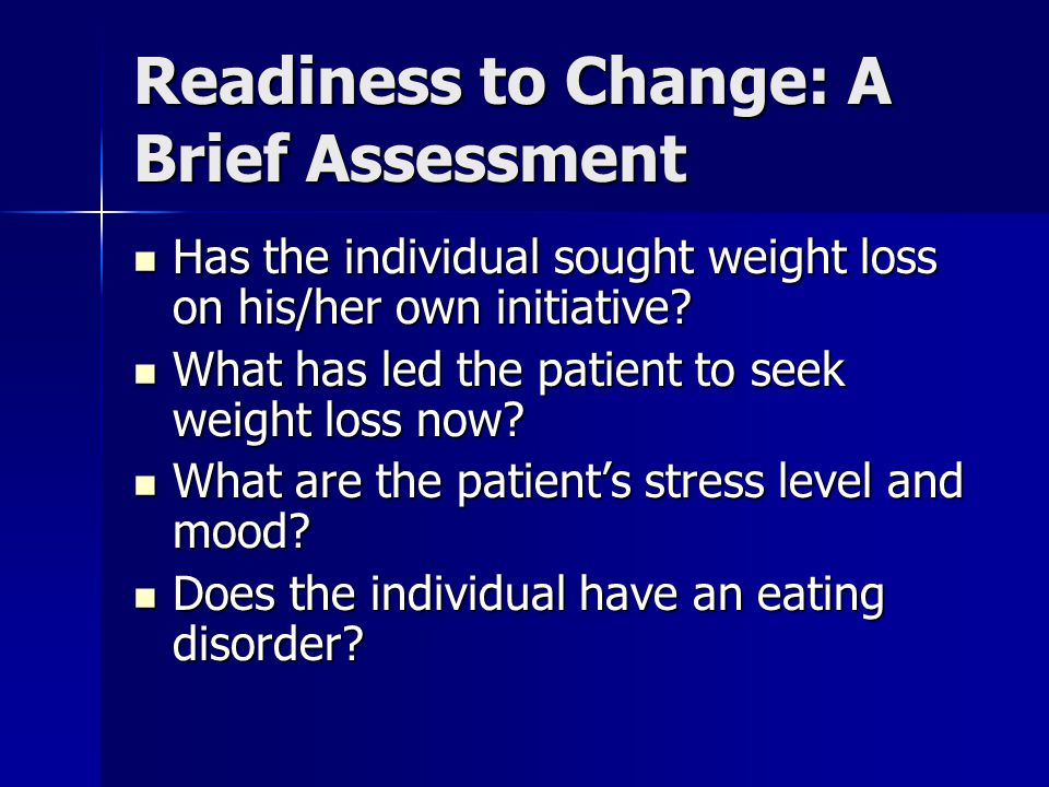 Readiness to Change: A Brief Assessment