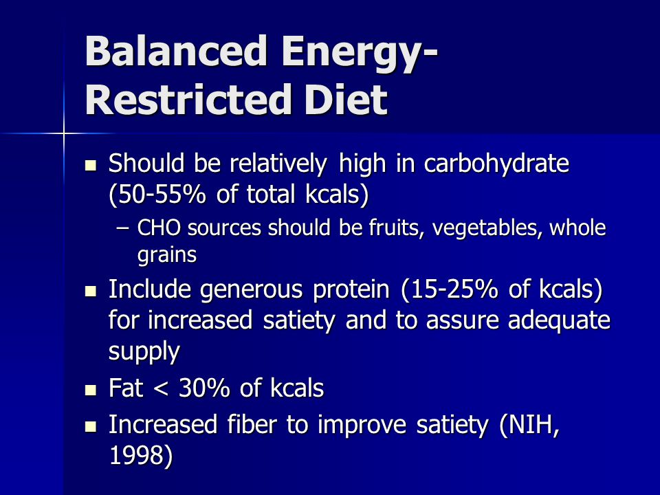Balanced Energy-Restricted Diet