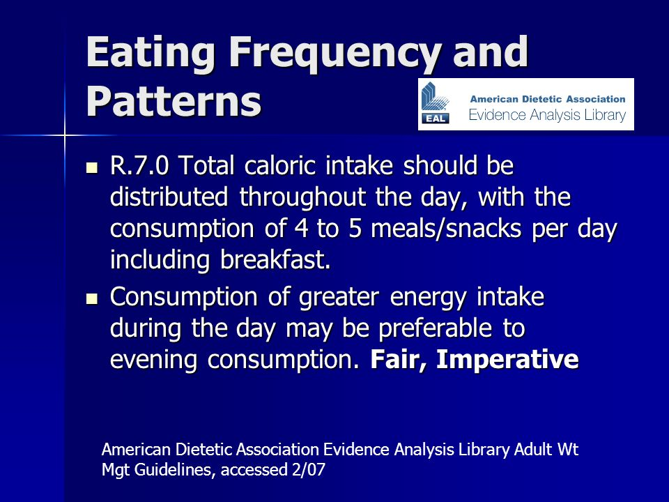 Eating Frequency and Patterns