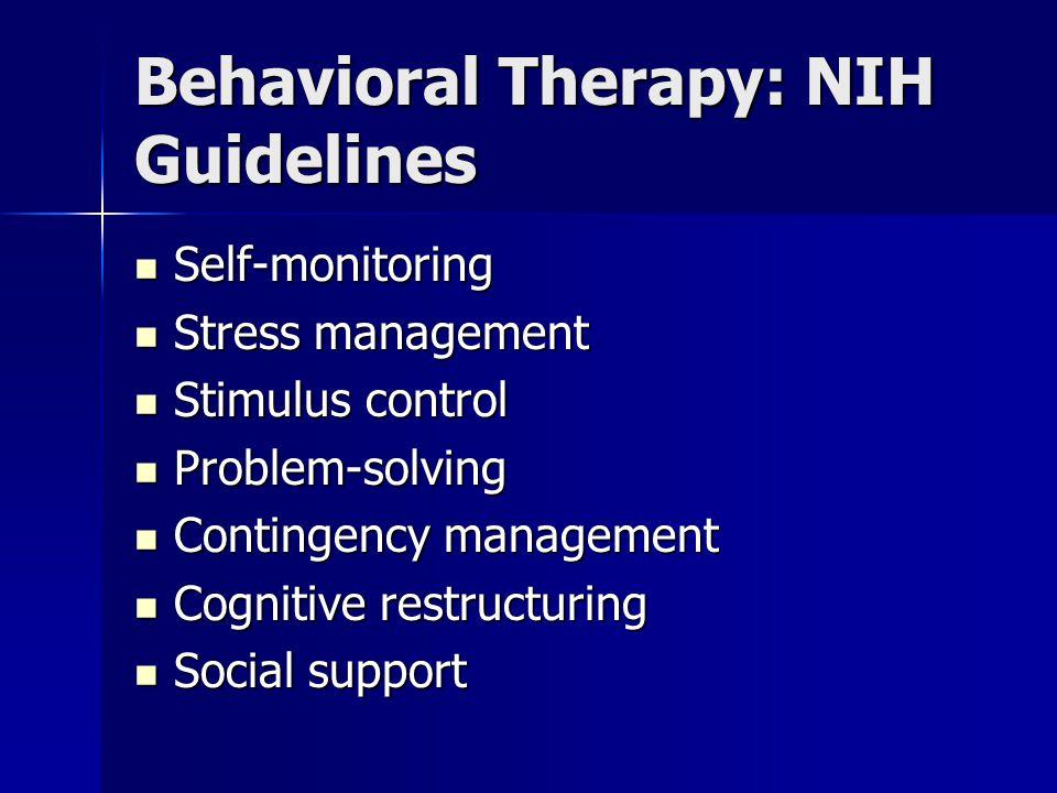 Behavioral Therapy: NIH Guidelines