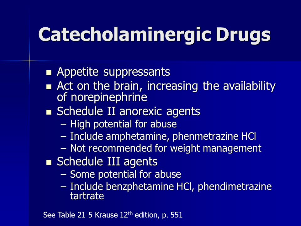 Catecholaminergic Drugs
