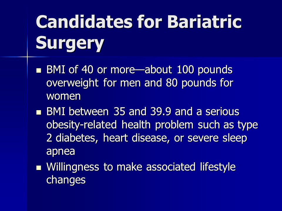 Candidates for Bariatric Surgery