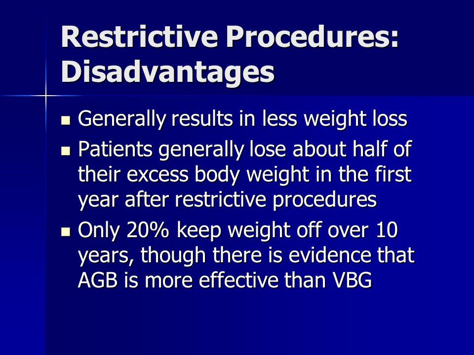Restrictive Procedures: Disadvantages