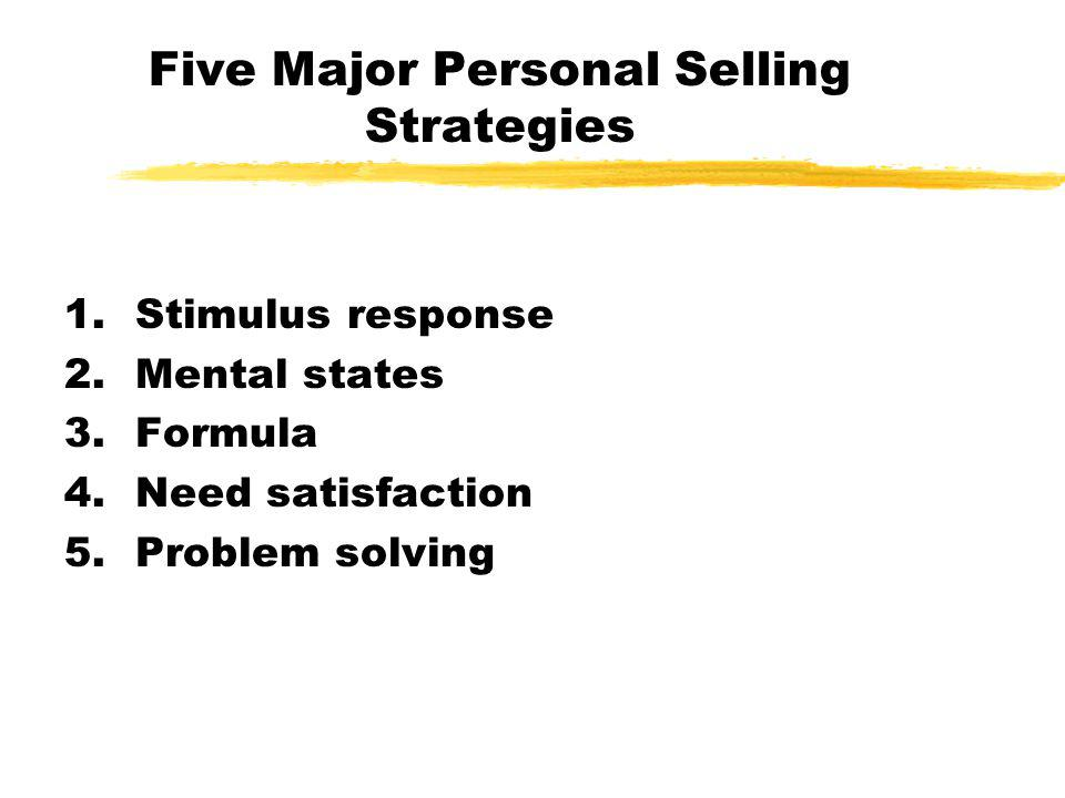 Five Major Personal Selling Strategies