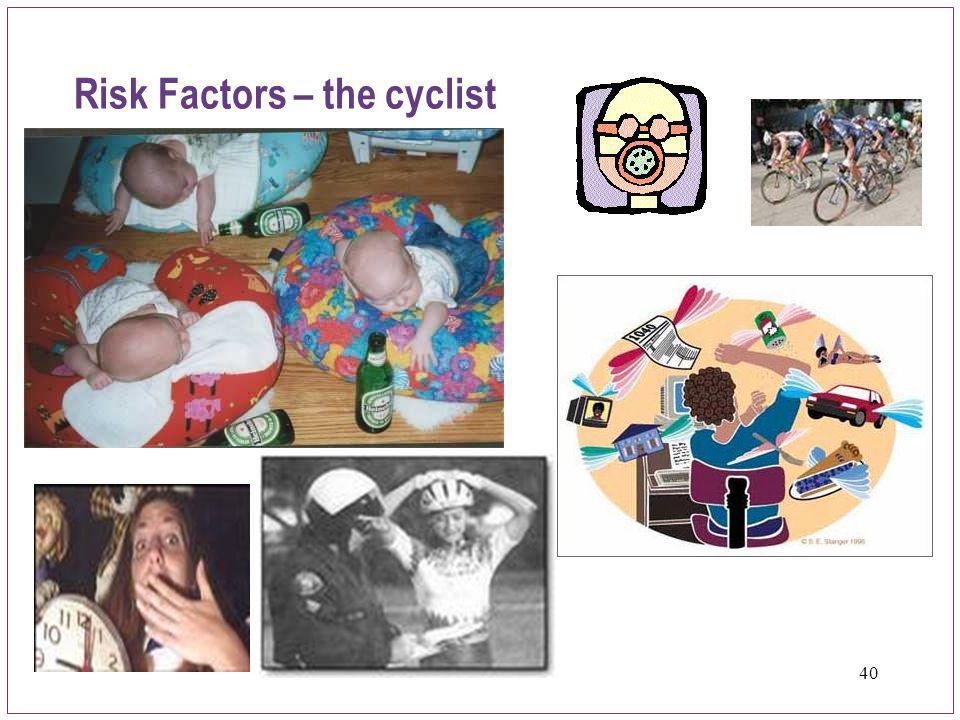 Risk Factors – the cyclist