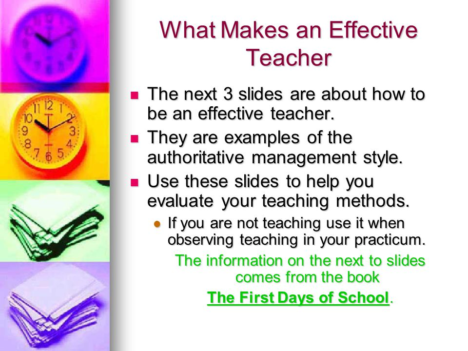 What Makes an Effective Teacher