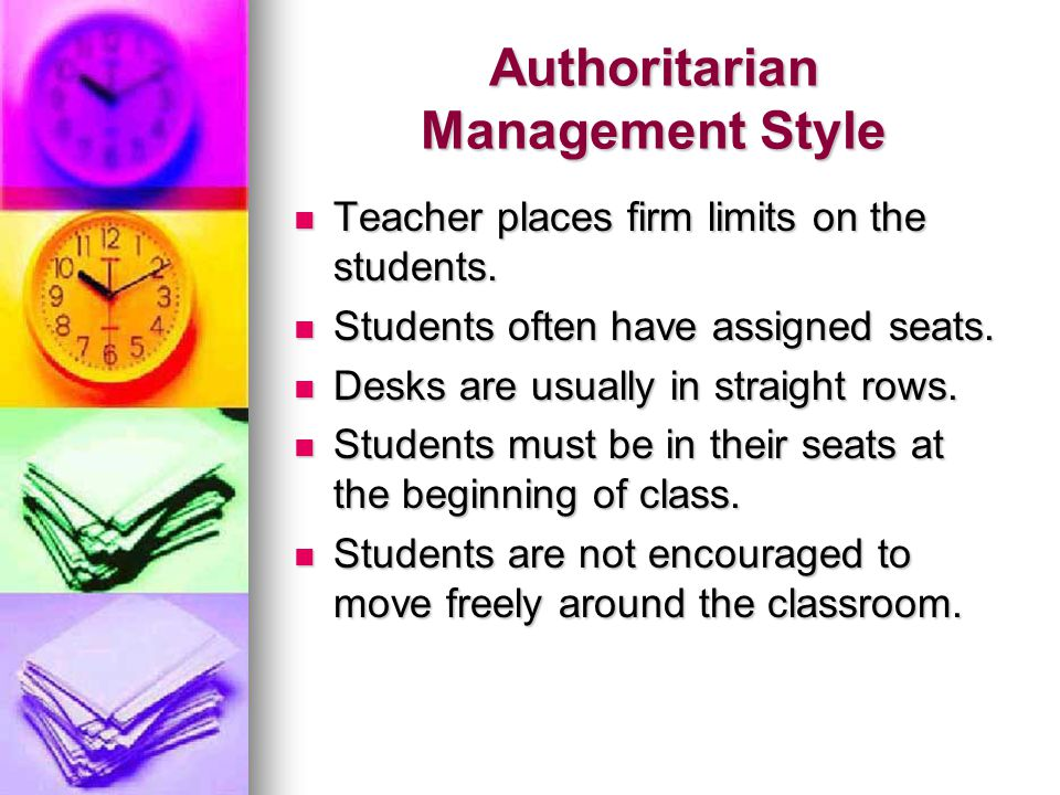 Authoritarian Management Style