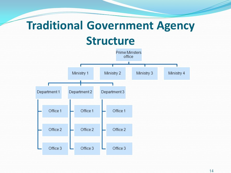 Traditional Government Agency Structure