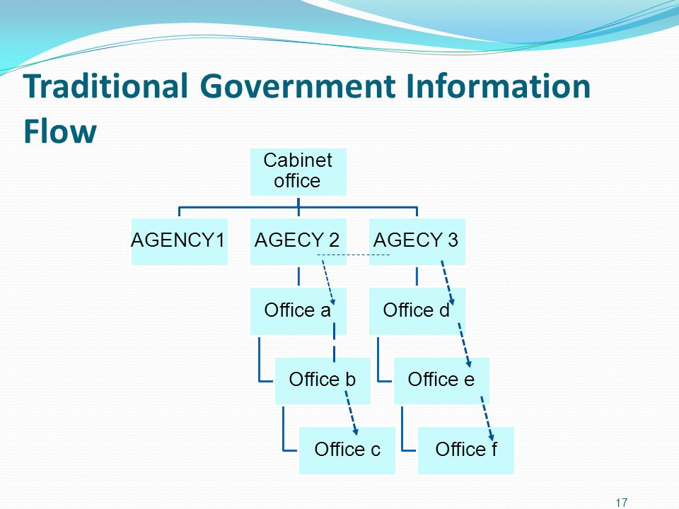 Traditional Government Information Flow