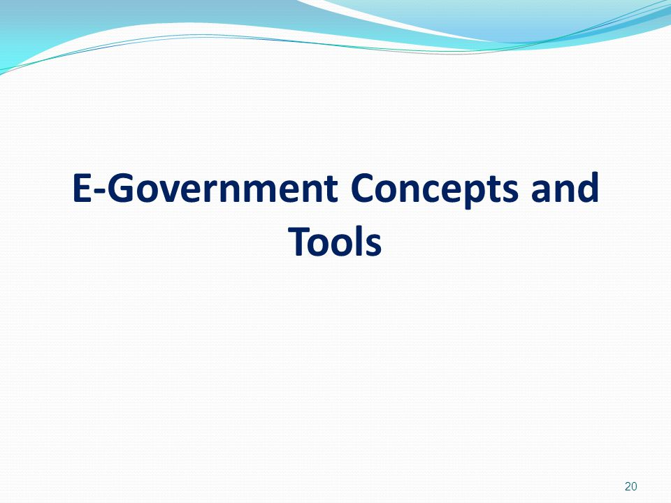 E-Government Concepts and Tools
