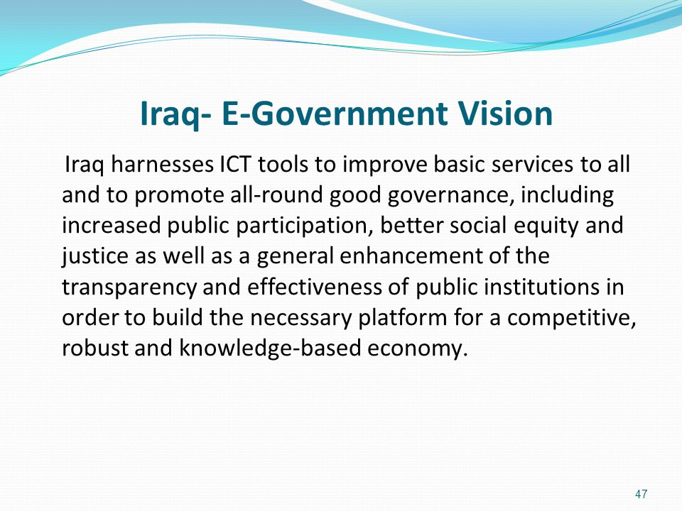 Iraq- E-Government Vision