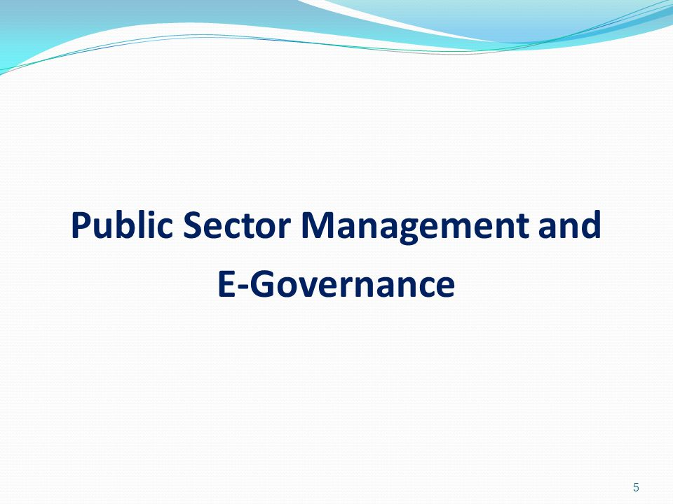 Public Sector Management and E-Governance
