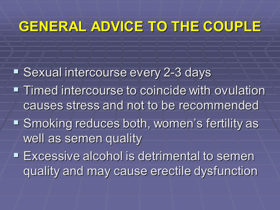 GENERAL ADVICE TO THE COUPLE