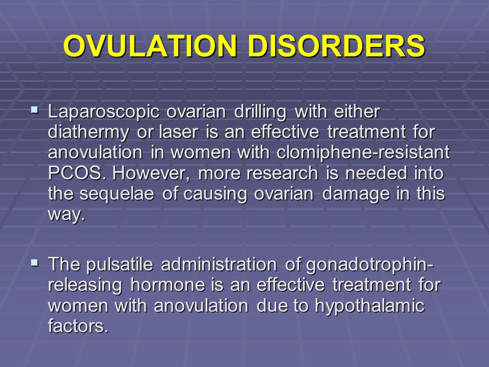 OVULATION DISORDERS