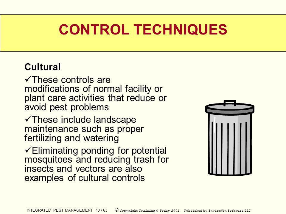 CONTROL TECHNIQUES Cultural