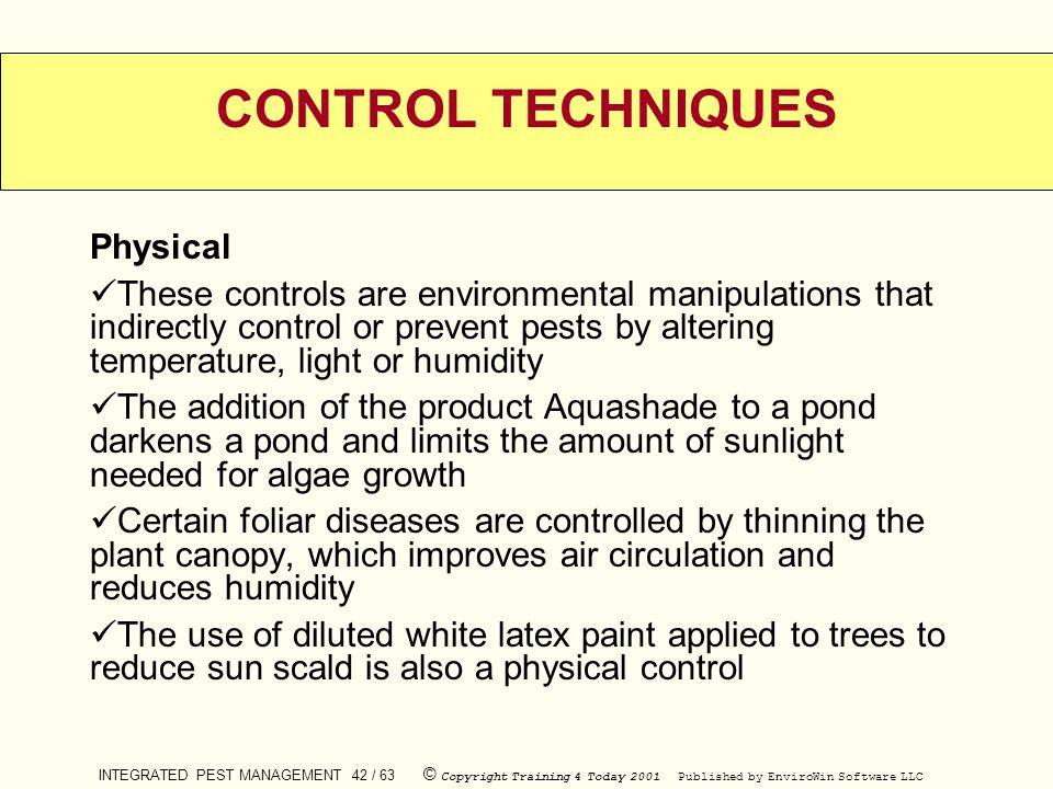 CONTROL TECHNIQUES Physical