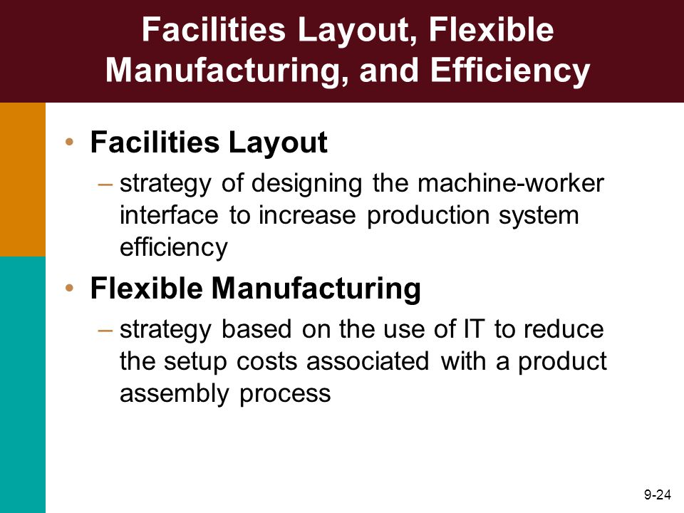 Facilities Layout, Flexible Manufacturing, and Efficiency