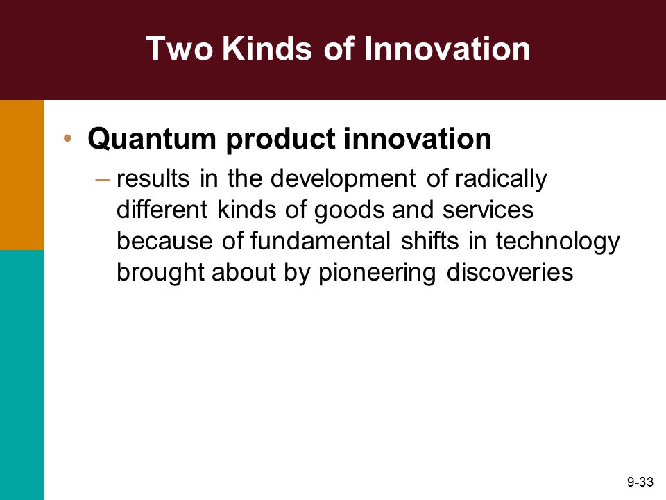 Two Kinds of Innovation