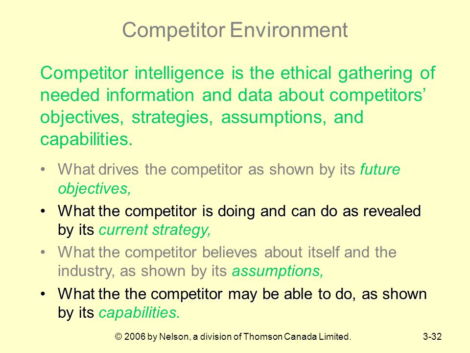 Competitor Environment